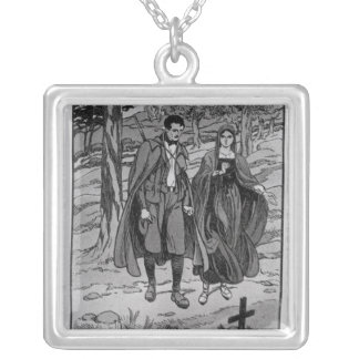 Colomba & her brother beside their father's square pendant necklace