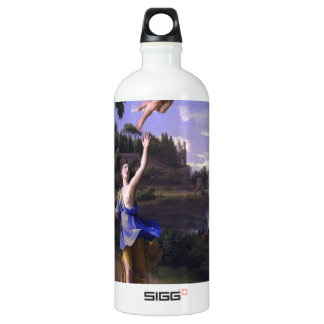 Colombel Cupid and Psyche painting love peace  joy Aluminum Water Bottle