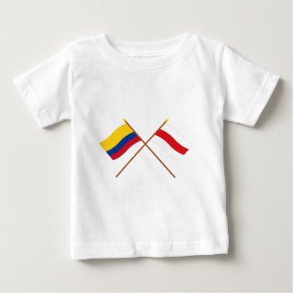 Colombia and Atlántico Crossed Flags Baby T-Shirt