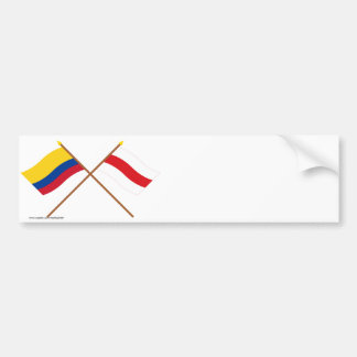 Colombia and Atlántico Crossed Flags Bumper Sticker