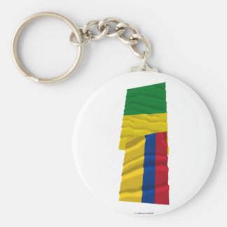 Colombia and Caldas Waving Flags Key Chains