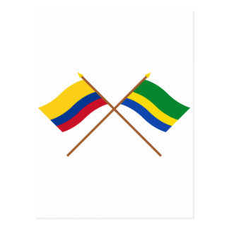 Colombia and Chocó Crossed Flags Postcard