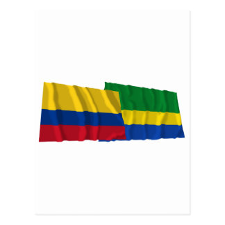Colombia and Chocó Waving Flags Postcard