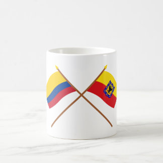 Colombia and Distrito Capital Crossed Flags Classic White Coffee Mug
