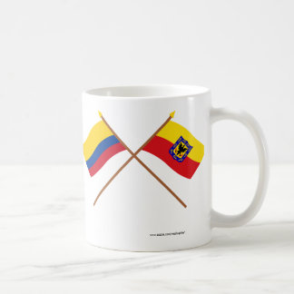 Colombia and Distrito Capital Crossed Flags Coffee Mug