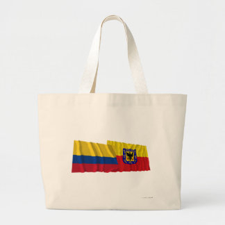 Colombia and Distrito Capital Waving Flags Tote Bags