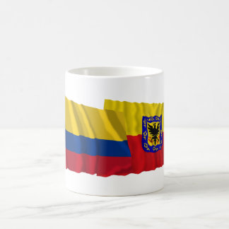 Colombia and Distrito Capital Waving Flags Classic White Coffee Mug