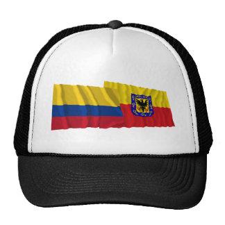 Colombia and Distrito Capital Waving Flags Mesh Hats