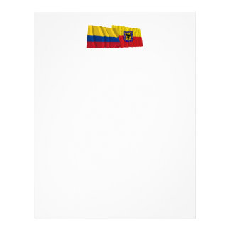 Colombia and Distrito Capital Waving Flags Letterhead