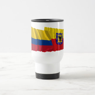 Colombia and Distrito Capital Waving Flags Mug