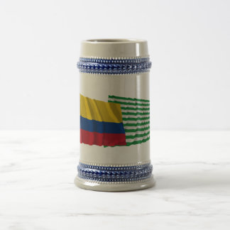 Colombia and Meta Waving Flags Beer Stein