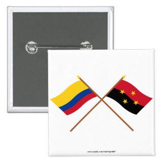 Colombia and Norte de Santander Crossed Flags Pin