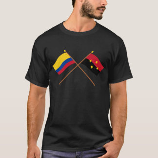 Colombia and Norte de Santander Crossed Flags T-Shirt