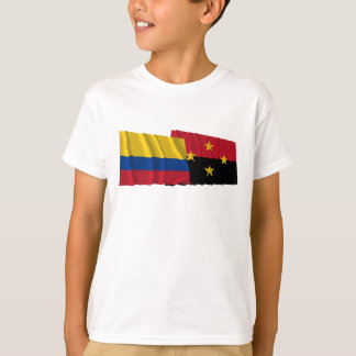 Colombia and Norte de Santander Waving Flags T-Shirt