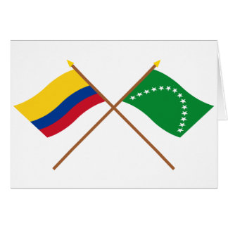 Colombia and Risaralda Crossed Flags Card