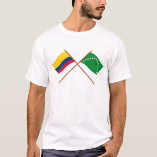 Colombia and Risaralda Crossed Flags T-Shirt