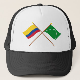 Colombia and Risaralda Crossed Flags Trucker Hat