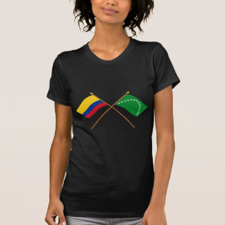 Colombia and Risaralda Crossed Flags Tee Shirt