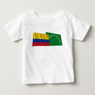 Colombia and Risaralda Waving Flags Baby T-Shirt