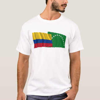 Colombia and Risaralda Waving Flags T-Shirt