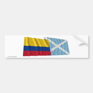 Colombia and San Andrés y Providencia Waving Flags Bumper Sticker
