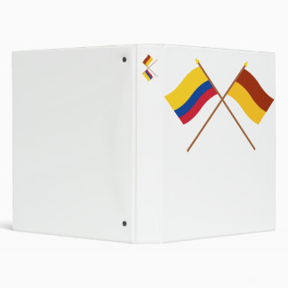 Colombia and Tolima Crossed Flags 3 Ring Binder