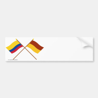 Colombia and Tolima Crossed Flags Bumper Sticker