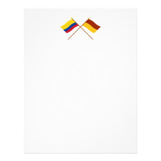 Colombia and Tolima Crossed Flags Personalized Letterhead