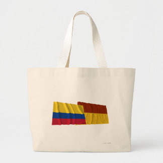 Colombia and Tolima Waving Flags Canvas Bags