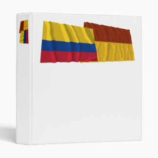 Colombia and Tolima Waving Flags Vinyl Binders