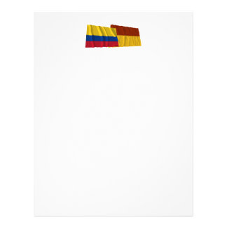Colombia and Tolima Waving Flags Letterhead Design