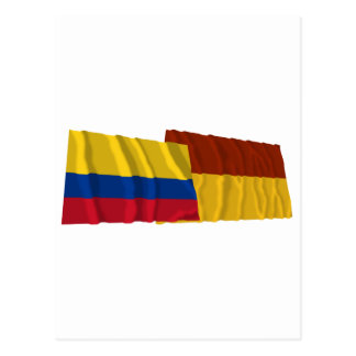 Colombia and Tolima Waving Flags Post Card