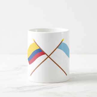 Colombia and Valle del Cauca Crossed Flags Classic White Coffee Mug