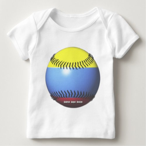 Colombia Baseball Baby T_Shirt