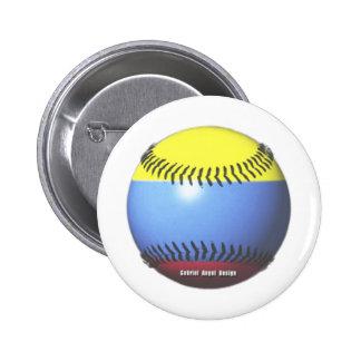 Colombia Baseball Button