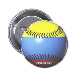 Colombia Baseball Pinback Button
