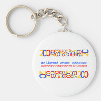 Colombia bicentennial keychain