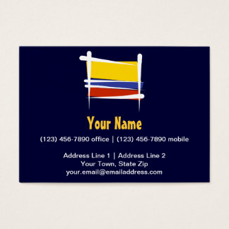 Colombia Brush Flag Business Card