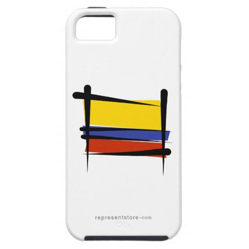 Colombia Brush Flag iPhone 5 Case