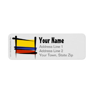 Colombia Brush Flag Label