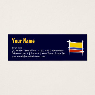 Colombia Brush Flag Mini Business Card