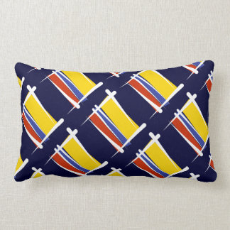 Colombia Brush Flag Pillow