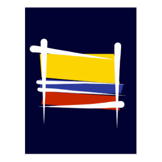 Colombia Brush Flag Postcard