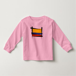 Colombia Brush Flag Toddler T-shirt