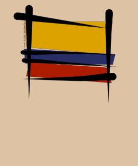 Colombia Brush Flag Tshirts