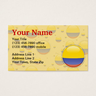 Colombia Bubble Flag Business Card