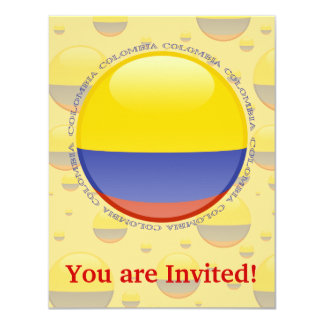 Colombia Bubble Flag Card