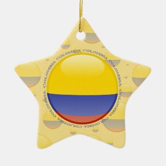 Colombia Bubble Flag Ceramic Ornament
