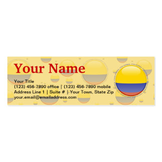Colombia Bubble Flag Double-Sided Mini Business Cards (Pack Of 20)