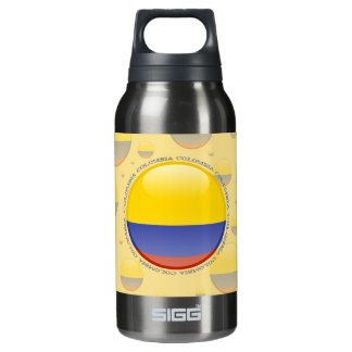 Colombia Bubble Flag Insulated Water Bottle